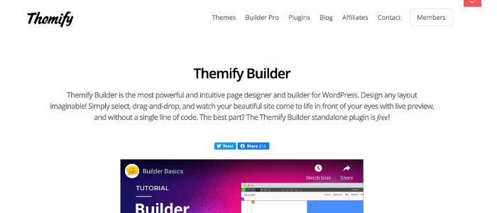 WordPress Page Builders Themify Builder Theme