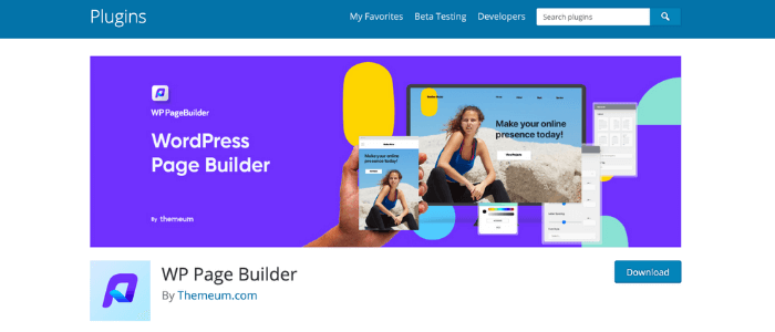 WordPress Page Buildes WP Page Builder Theme